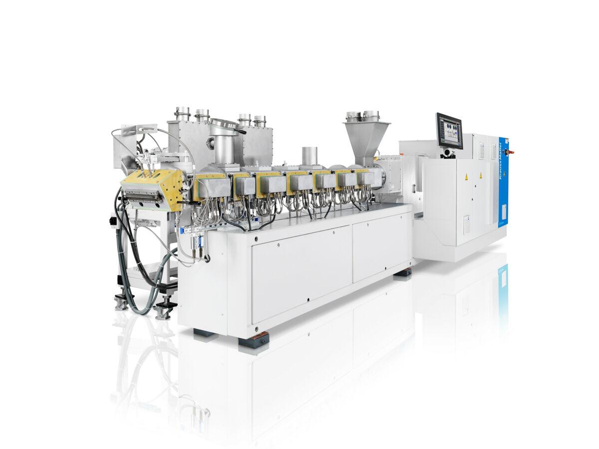 Die Zweischneckenextruder-Baureihe ZE BluePower