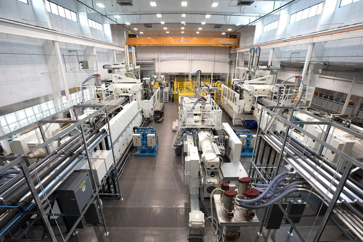 Blick in die Produktion bei Monoflo: