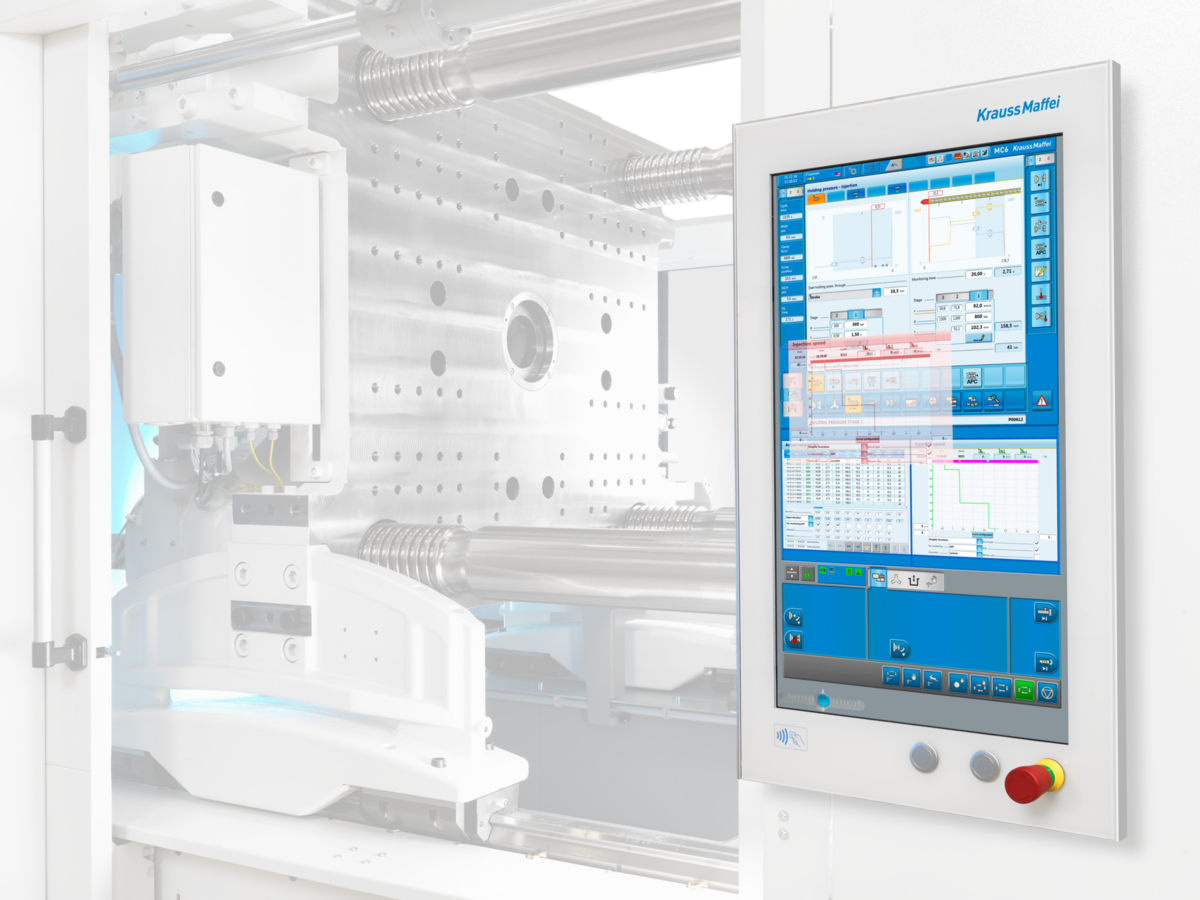he latest generation of injection molding machine control: