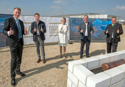 A foundation stone for a new KraussMaffei