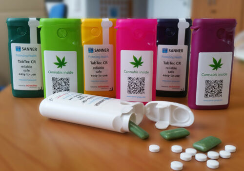 Child-proof packaging for medical cannabis